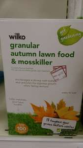 WILKOS GRANULAR AUTUMN LAWN FOOD AND MOSS KILLER 3.5 KG 63p
