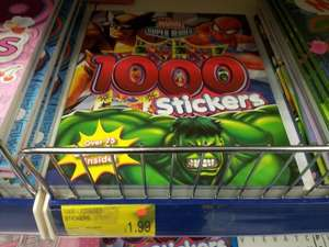 Marvel Super Heroes 1000 Sticker Book £1.99 in B&M Retail