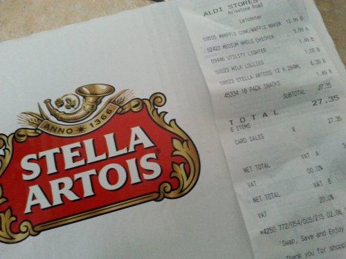 stella artois beer 12 for £6.39 @ Aldi