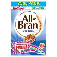 Kellogg's All-Bran & Bran Flakes 750g - 3 for £5 (normally £2.89 each) at Tesco