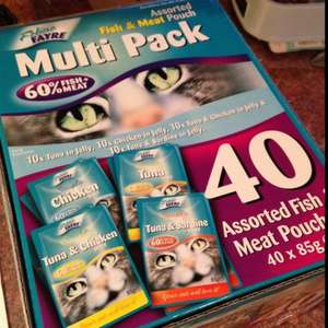 Feline Fayre Multi Pack Cat Food @ Tesco. Box of 40 for £7