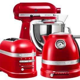 Kitchenaid Artisan Stand Mixer, Toaster and Kettle set plus freebies £592 at Harts of Stur
