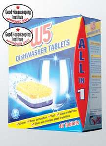 W5 All in 1 Dishwasher Tablets (40) £2.99 Lidl - Which Best Buy - From Thursday 12th-18th