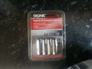 Tronic Ni-MH 2500 rechargeable batteries AA or AAA  @ LIDL - £2.99