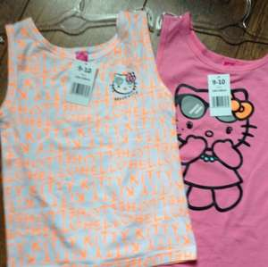 Hello kitty (Officially Licensed) girls t-shirts various sizes £1 each @ Poundland