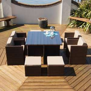 rattan cube 8 seater dining set £299.99 on ebay deals / direct2publik