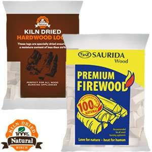 Saurida Premium Kiln Dried Firewood 10KG Bags £3.99 Click and Collect @ Home Bargains