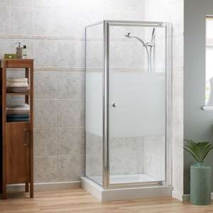 Cavalier 760mm Pivot Shower Enclosure + Tray & Side Panel - £119.97 + £34.97 Delivery @ Plumbworld