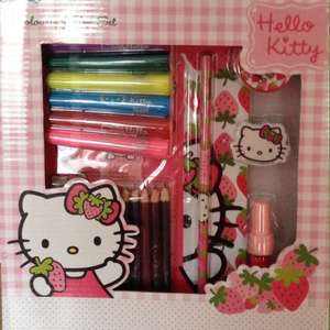 Hello kitty colouring box sets 4p at tesco instore