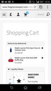 Ralph Lauren Polo Sport Eau de Toilette 75ml with free Ralph Lauren duffle bag @ fragrance expert - £22.50