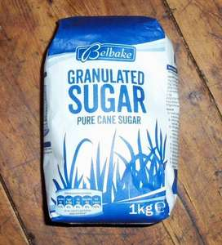 Belbake granulated white sugar 69p per kilo at Lidl