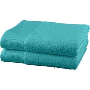 ColourMatch Pair of Bath Towels - Aqua.    144/6869 was £6.99 now £3.49 at Argos