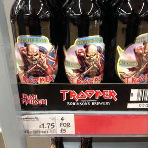 Iron Maiden Trooper beer online / instore at Asda 4 for £5 or 1.75 each