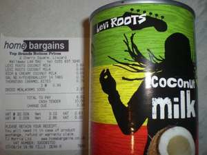 Levi Roots Coconut Milk 400ml  69p @ Home Bargains (Also an own brand at same price)