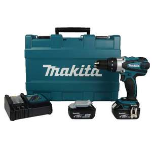 Makita 2-speed Combi Drill bhp458 with 2 x 4.0Ah Batteries, Charger and Case,  @ UKTOOLMART £197.95 delivered on SALE with code UKTM10.