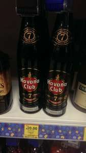 Havana Club 7yr old rum 70cl £20 at tesco