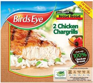Birds Eye (Levi Roots) (Reggae Reggae) (2) Chicken Chargrills (174g) was £1.68 now ONLY 98p (Rollback Deal) @ Asda