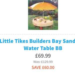 Little tikes sand and water table £69.99 at Adventure Toys