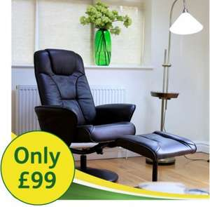 World Cup recliner chair & foot stool £99 inc delivery Betterlife/LLoyds Pharmacy