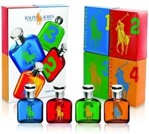 Ralph Lauren The Big Pony Collection Eau De Toilette Men's Gift Set 15 ml - Pack of 4 for £22.50 @ Amazon