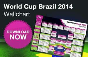 Free Downloadable 2014 World Cup Wallchart