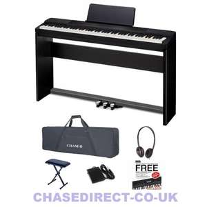 Casio Privia PX-150 Digital Piano Bundle (Stand, Pedals, Stool, Bag, Headphones) £437.89 Delivered @ Chase Direct
