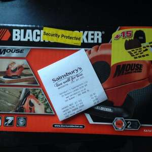 Black and Decker Mouse Sander £8.40 at Sainsburys instore