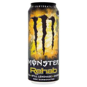 Monster REHAB Tea & Still Lemonade Energy Drink 49p homebargains instore
