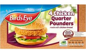 Birds Eye 4 Chicken Quarter Pounders (454g) - £1.49 (Half Price) @ Tesco...