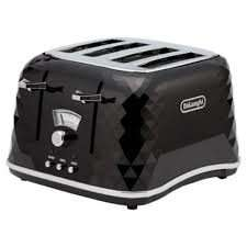 De'Longhi Brillante CTJ4003 4 Slice Toaster - Black  £39.50 @ Tesco