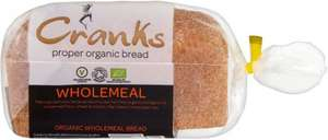Cranks Organic Wholemeal Bread (800g) was £1.45 now £1.00 @ Sainsbury's