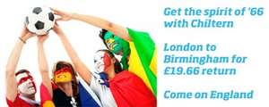 London - Birmingham Off Peak Return for £19.66 - summer long promotion @ Chiltern Railways