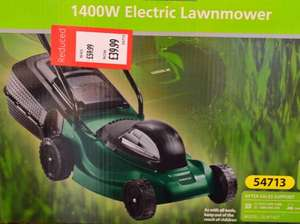 1400w Lawnmower £39.99 at ALDI (reduced from £59.99) with 3 years warranty.