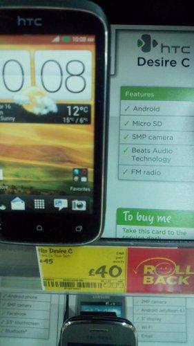 HTC Desire C £40 @ Asda instore