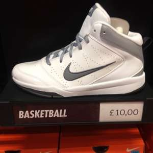 Nike white basket ball shoes uk4.5 - uk6 £10 in the Nike Outlet at Bishopbriggs