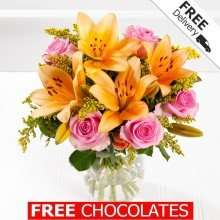 £14.99 for Debenhams Flowers bouquet with free delivery and free chocolates - CODE DFJNE5