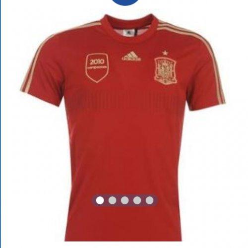 adidas Spain Home Shirt 2014 Replica £27.99 + £3.99 P&P  @ Sports direct