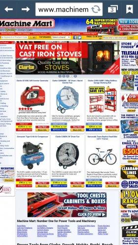 20% Off Wood/Fuel Burners @ Machine Mart - £429.98
