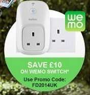 Belkin WeMo Switch for £30 delivered, inc a window sticker and tshirt from Belkin