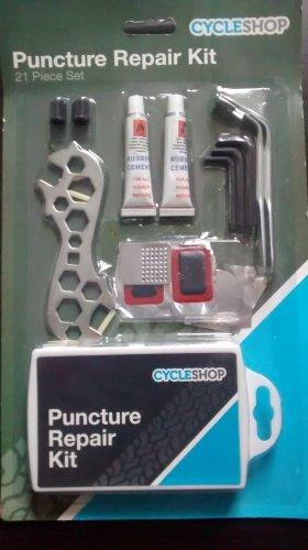 Bike puncture repair kit 99p instore @ Home Bargains