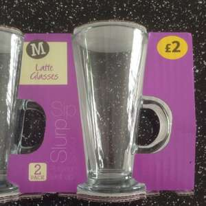 Latte Glasses 2 for £2 in store morrisons