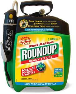 Roundup Fast Action Pump and Go 5ltrs weedkiller £18.99 free delivery Amazon Possibly cheaper through Flubit