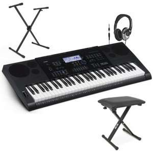 Casio CTK-6200 Portable Keyboard with FREE Bench, Headphones + Stand £199 @  Gear4music