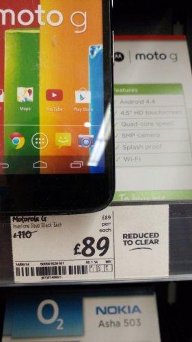 Motorola Moto G on Vodafone £89 @ asda instore