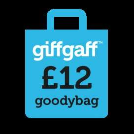 Giffgaff £12 goody bag sim 250 mins, unlimited texts and unlimited data NO FAIR USE POLICY!!