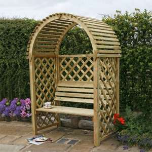 Blooma Chiltern Wooden Arbour down from £149 to £50 @ B&Q