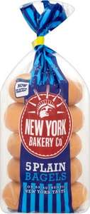 New York Bakery Co Bagels Plain (5 Pack) £1.00 or 50p (50p from shopitize) @ Co-operative Food