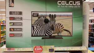 "Celcus 40"" full hd dled TV and now TV box £199.99 @ Sainsbury's instore"