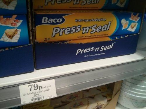 baco press n seal multi purpose wrap 79p @ home bargains