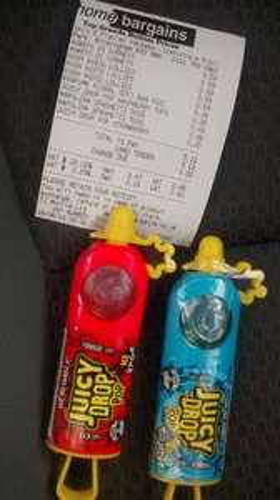 juicy drop pop Candy £0.25 @ home bargains